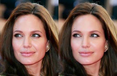 Even Angelina Jolie gets photoshopped.